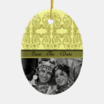 Paisley Flower (Gold) Christmas Ornaments