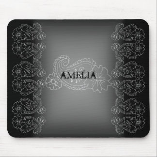 Paisley Flower Mouse Pad
