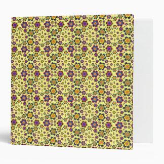 Paisley Flower Pattern Background 3 Ring Binder