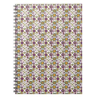 Paisley Flower Pattern Background Design Notebook