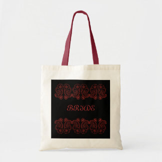 Paisley Flower (Red) Tote Bag
