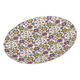 Paisley Flowers Pattern Design Plates