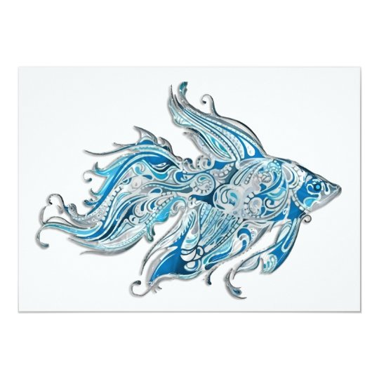 Paisley Flowing Fish Card