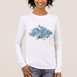 Paisley Flowing Fish Long Sleeve T-Shirt