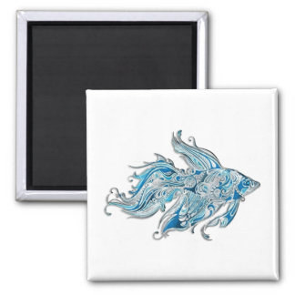 Paisley Flowing Fish Fridge Magnets