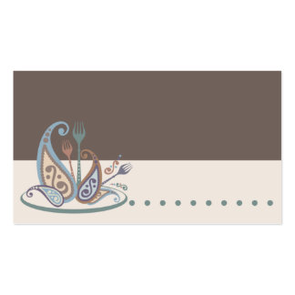paisley forks cooking catering culinary business c business card template