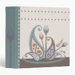 paisley forks recipe cookbook notebook binder 2