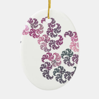 Paisley Fractal Art Design Ceramic Ornament