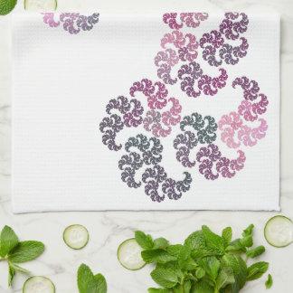 Paisley Fractal Art Design Hand Towel