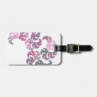 Paisley Fractal Art Design Luggage Tag