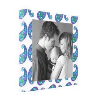 Paisley Frame- CUSTOMIZE!! Stretched Canvas Prints