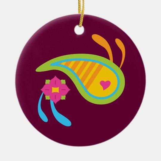 Paisley Fun Ceramic Ornament