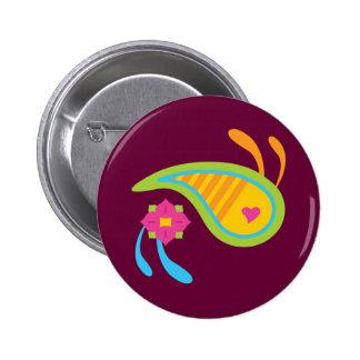 Paisley Fun Pinback Button