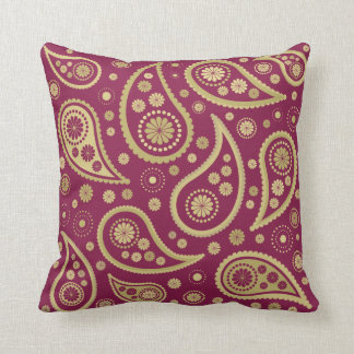 Gold And Burgundy Pillows, Gold And Burgundy Throw Pillows