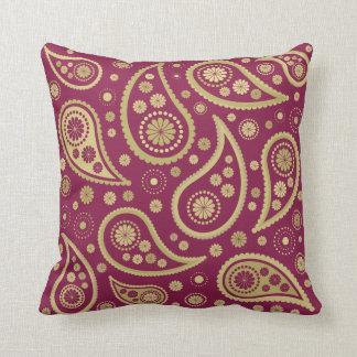 Burgundy Print Throw Pillows : Gold And Burgundy Pillows, Gold And Burgundy Throw Pillows