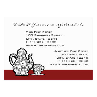 Paisley Garden Tea Party Large Business Cards (Pack Of 100)