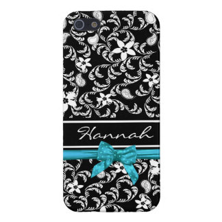 Paisley Garden with Bow iPhone 5 Covers