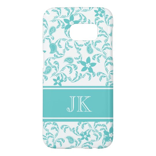 Paisley Garden with Changable Color Samsung Galaxy S7 Case
