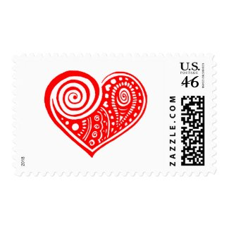 Paisley Heart Stamp