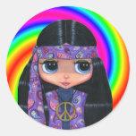 Paisley Hippie Doll Swirl Sticker