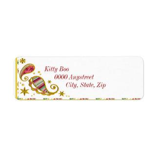 Paisley Holiday Return Address Label