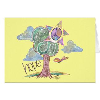 Paisley Hope Tree Greeting Card (Yellow)