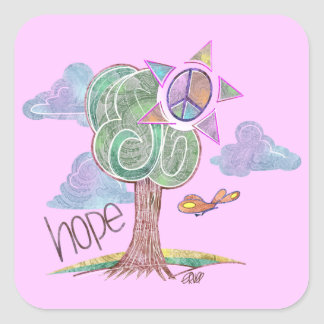 Paisley Hope Tree Stickers (Pink)