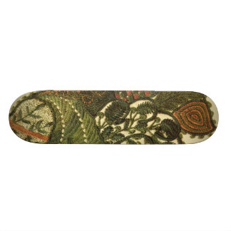 Paisley In Green And Beige Skateboard Deck