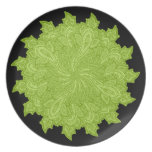 Paisley in Green Dinner Plates