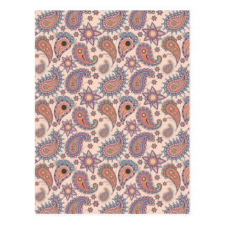 Paisley in Pink Postcard