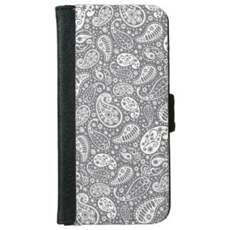Paisley in Shades of Grey iPhone 6/6s Wallet Case