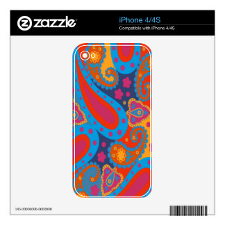 paisley iphone skin iPhone 4 decal