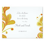 Paisley Leaves White RSVP 2 Personalized Invitations
