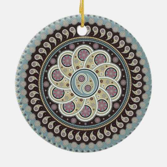 Paisley Mandala Ceramic Ornament
