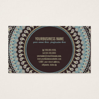 Paisley Mandala - decorative, spiritual Business Card