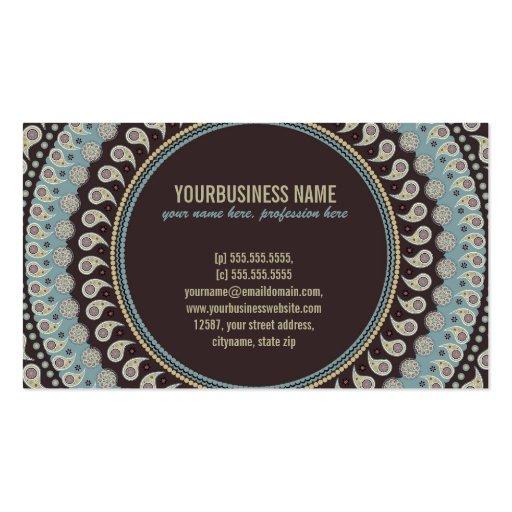 Paisley Mandala - decorative, spiritual Business Cards