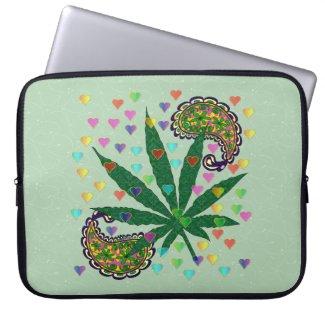 Paisley Marijuana Leaf Art Computer Sleeves