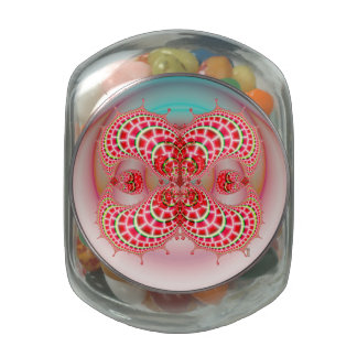 Paisley Melons Merging Glass Jar