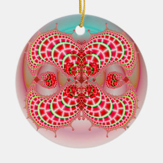 Paisley Melons Merging Christmas Ornaments