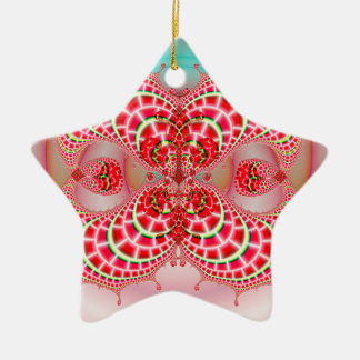 Paisley Melons Merging Christmas Tree Ornaments