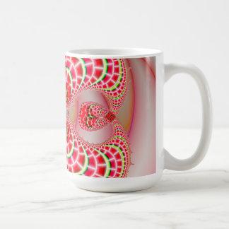Paisley Melons Merging Classic White Coffee Mug