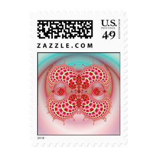 Paisley Melons Merging Postage Stamps