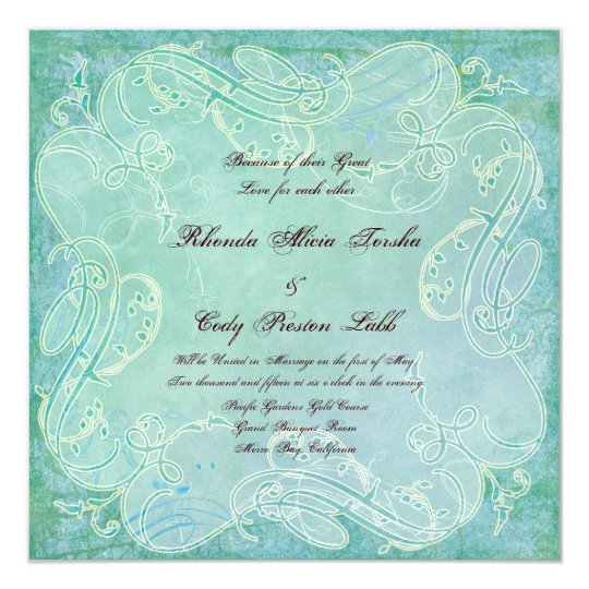 Paisley Modern Floral Flourish Swirl Wedding Card