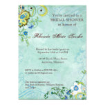 "Paisley Modern Floral Flourish Swirl Wedding 5"" X 7"" Invitation Card"