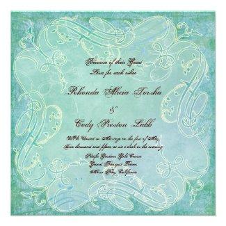 Paisley Modern Floral Flourish Swirl Wedding Custom Announcement