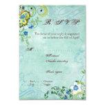 Paisley Modern Floral Flourish Swirl Wedding Announcement