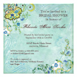 Paisley Modern Floral Flourish Swirl Wedding Personalized Invite
