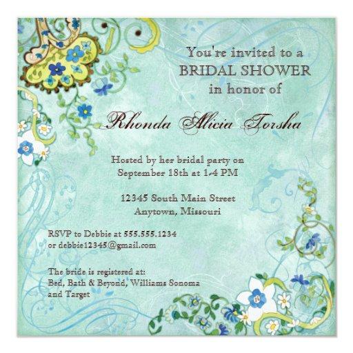 "Paisley Modern Floral Flourish Swirl Wedding 5.25"" Square Invitation Card"