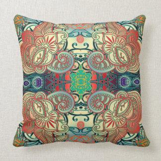 Paisley Mosaic Pattern I + your ideas Throw Pillow