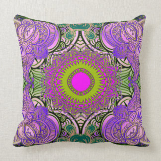 Paisley Mosaic Pattern II + your ideas Throw Pillow